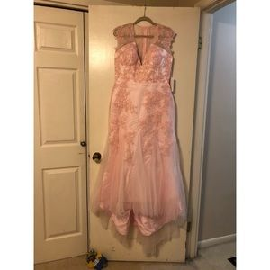 Dresses & Skirts - Light pink tulle lace formal/wedding dress